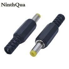 Ninthqua 2/5/10 pçs preto 4.8mm x 1.7mm dc alimentação macho tomada jack adaptador 4.8*1.7 jack para tomada portátil tomada diy
