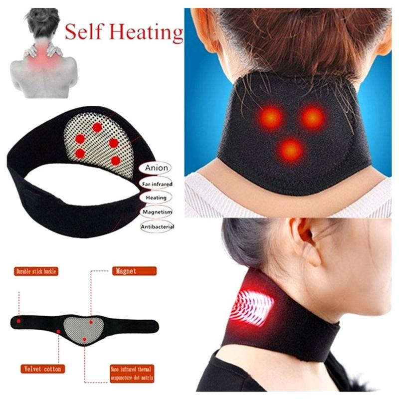 Neck Massager Magnetic Therapy Wrap Protect Tourmaline Belt Support Spontaneous Heating Neck Braces Neck Massage Brace