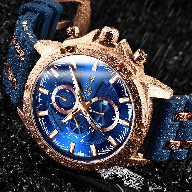 2020 novos Homens Relógios Top Marca de Luxo Relógio Militar Homens Silicone strap Quartz Relógio de Pulso À Prova D' Água Para Os Homens Do Esporte Do Cronógrafo