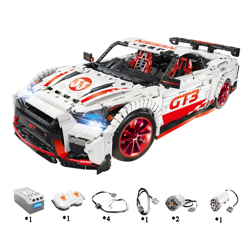 Ford Mustang Hoonicorn RTR V2 Racing Car with power function led light legoinges Technic MOC-22970 building block bricks Kids 21