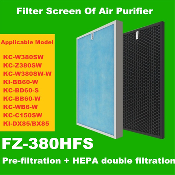 HEPA Filter Carbon Air Filter for Sharp Air Purifier KC-W380SW/Z380SW /W380SW-W /BD60-S /BB60-W /WB6-W / C150SW /WE60/51 цена 2017