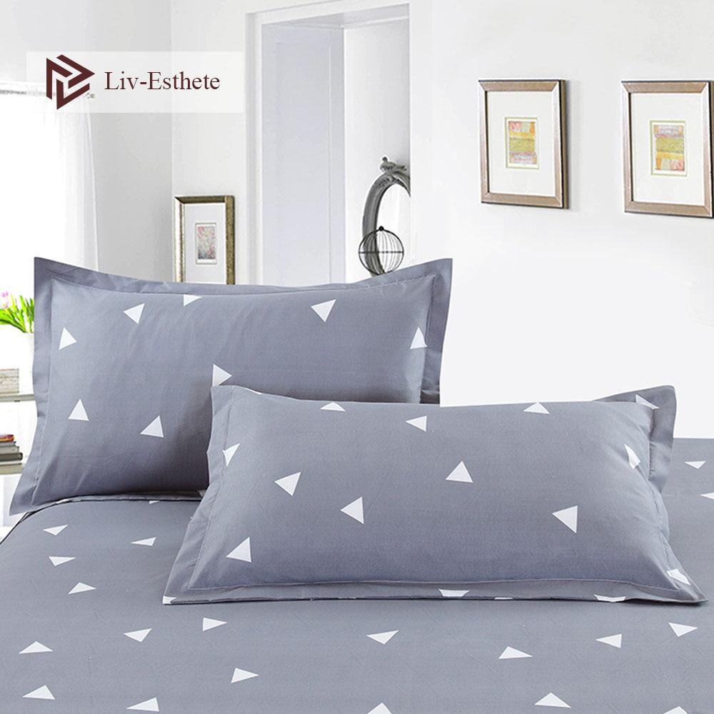 Liv-Esthete Classic Geometric Pillowcase Wholesale Decorative Beauty Floral Pillow Case Cover Bedding For Women Men 48x74cm