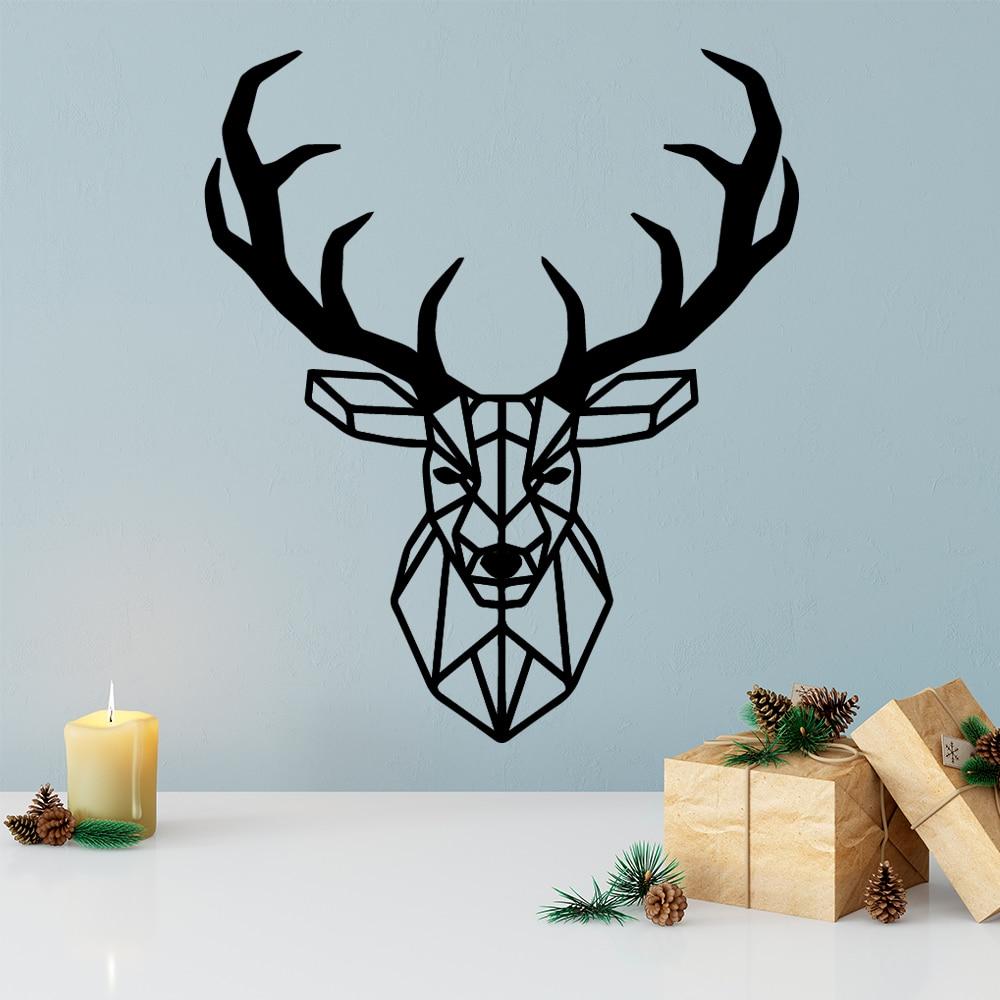 В виде геометрических фигур стикер на стену в виде оленя виниловые домашний декор для Гостиная украшения настенные наклейки обои стены