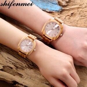 Мужские часы Shifenmei, женские кварцевые часы, дизайнерские часы для влюбленных, деревянные часы ручной работы, деревянные часы, рождественски...