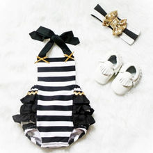 Baby Rompers Girl Baby Costumes Set Stri