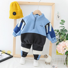 Baby Boys Girl Clothing Sets Casual Baby Hoodes Coats Pants 2Pcs/Sets Toddler Outfits Kids Autumn Winter Clothes Infant Clothing winter baby girl clothes set kids clothing sets thick warm baby coats pants 2pcs kids suits flower toddler baby clothes outfits