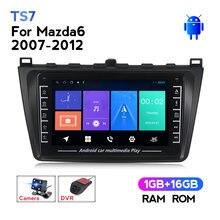 MEKEDE sistema Android 1 + 1 + 16G IPS 2din GPS para coche de navegación para Mazda 6 2007-2012 pantalla táctil con botón de control multimedia radio