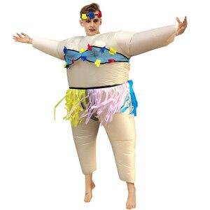 Image 5 - Disfraz inflable de pato para adulto, traje para pasear en la bañera, salir con baño, nadar