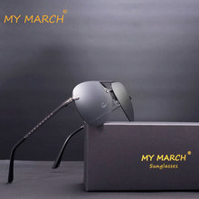 MYMARCH Men's Sunglasses Brand Designer Pilot Polarized Male Sun Glasses Vintage Eyewear Gafas Oculos De Sol Masculino For Men luxury brand aluminum magnesium polarized sunglasses men vintage designer sun glasses for men eyewear male oculos masculino de