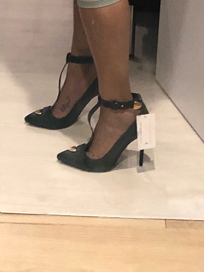 Туфли лодочки на шпильке с Т образным ремешком и острым носком; женская обувь на тонком высоком каблуке - 5