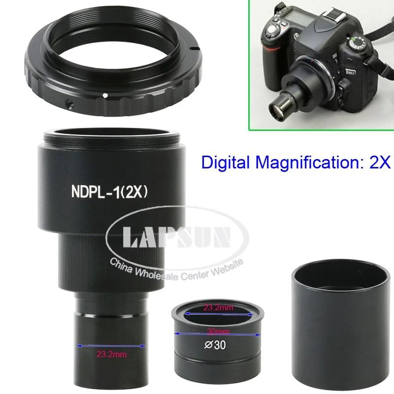 Microscope Adapter for Canon DSLR//SLR w// 2X Lens 30mm 30.5mm Stereo Sleeve