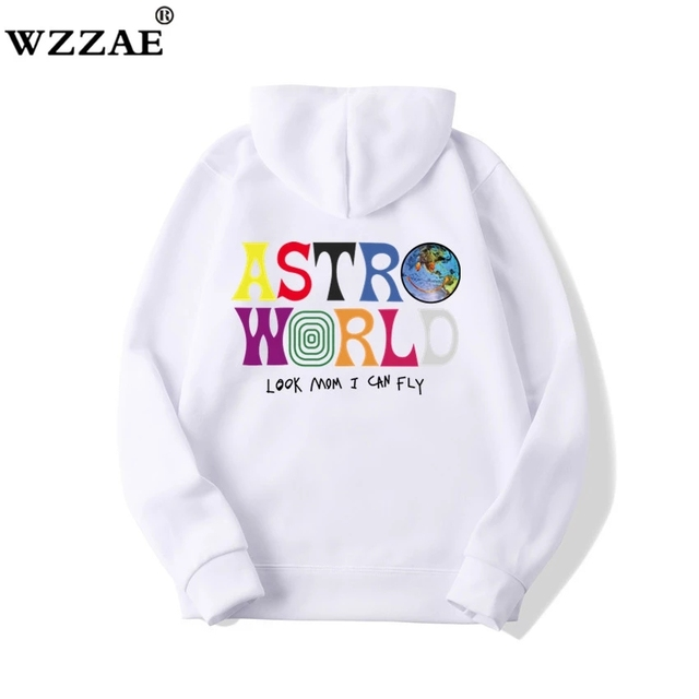 TRAVIS SCOTT ASTROWORLD Look Mom I Can Fly WISH YOU WERE HERE HOODIES  1