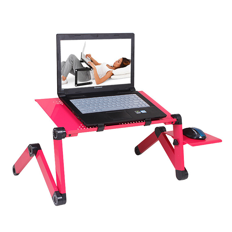 Купить с кэшбэком Portable foldable adjustable folding table for Laptop Desk Computer mesa para notebook Stand Tray For Sofa Bed Black