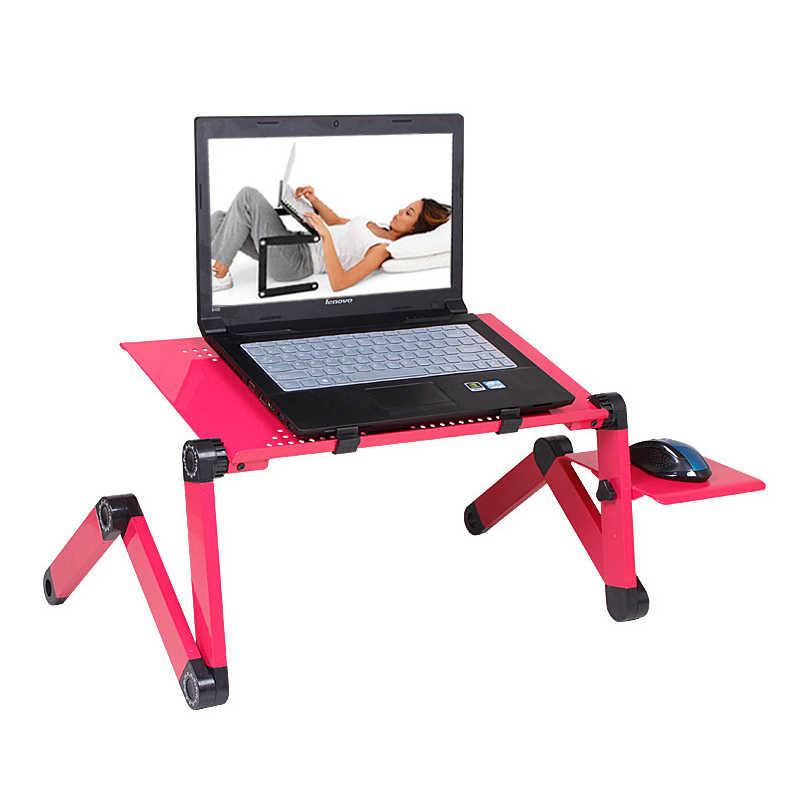Складной столик для ноутбука и настольного ПК, портативная, регулируемая подставка под ноутбук, для дивана/кровати, черный
