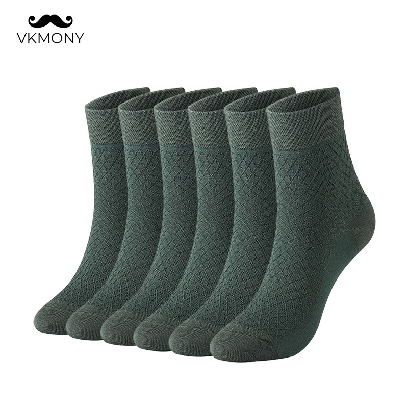 VKMONY Man Socks Large-Size Pattern-Color Cotton Lattice Us-7.0-12.0 Eu-39-46 Men title=