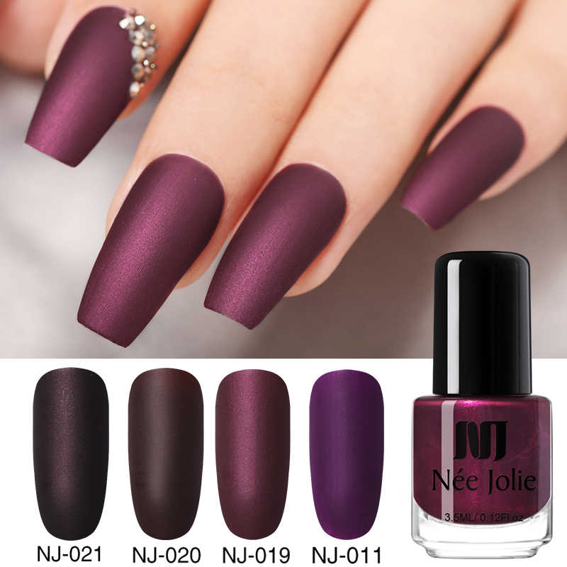 Nee Jolie 3.5 Ml Nail Art Poolse Matten Effect Roze Wit Geel Kleurrijke Nail Art Vette Polish Voor Nail Diy beauty Tools