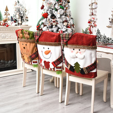 Stretch-Cover Christmas-Decoration Party-Decor Clause Dining Kitchen Santa Elastic Holiday