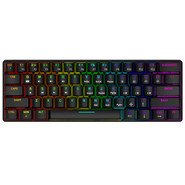 Smart Duck XS61 60% mechanical keyboard rgb switch led software type c doubleshot keycap macro program blue red brown black