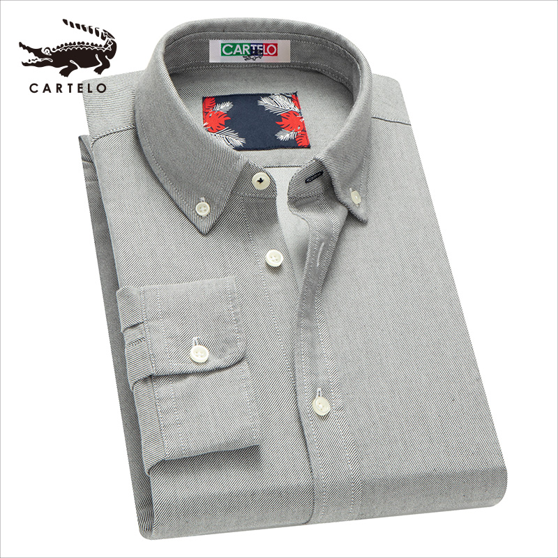 Cartelo Men's Business Casual Shirts Fashion Casual Cotton Shirt For Men Male