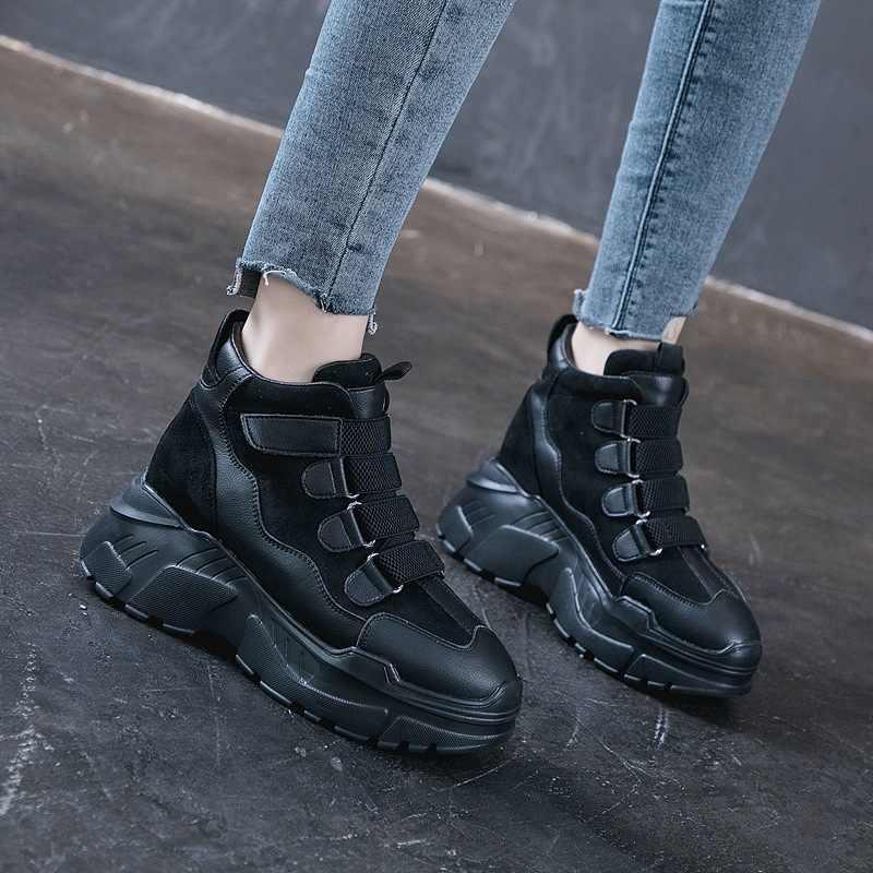 ความสูงเพิ่มผู้หญิงรองเท้าผู้หญิงรองเท้าแพลตฟอร์มWedgesรองเท้าส้นสูงรองเท้าLoafersสุภาพสตรีCreepers Trainers ZZ-04