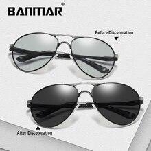 BANMAR Driving Photochromic Sunglasses Men Polarized Chameleon Discoloration Sun glasses for men oculos de sol masculino BS8722