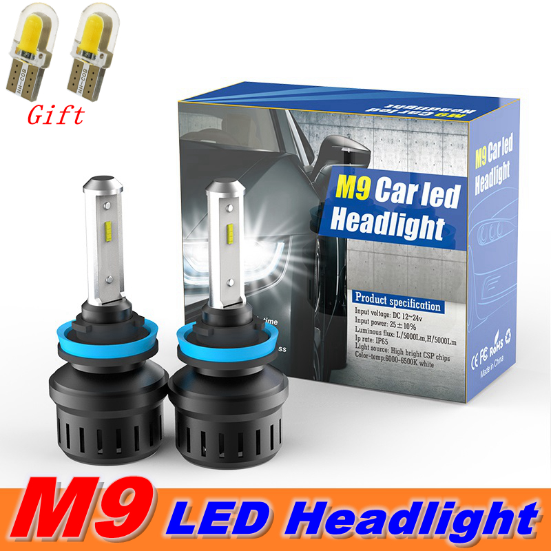 H1 CSP LED Headlight Bulbs Kit 72W 5000LM High Beam Xenon 6000K White Fog Lamps