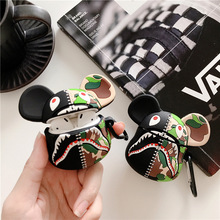 3D Silicone Earphone Cases For AirPods 2 Case Cute Cartoon Camouflage Violent bear For Apple Air Pods Case For Earpods Earbuds 3d lucky rat cartoon bluetooth earphone case for airpods pro cute accessories protective cover for apple air pods 3 silicone