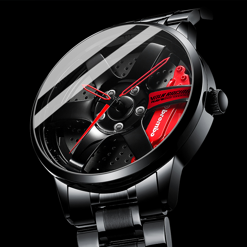 Wheel Rim Hub Watch Custom Design Sport Car Rim Watches Waterproof Creative Watches Man Wrist Watch Relogio Masculino