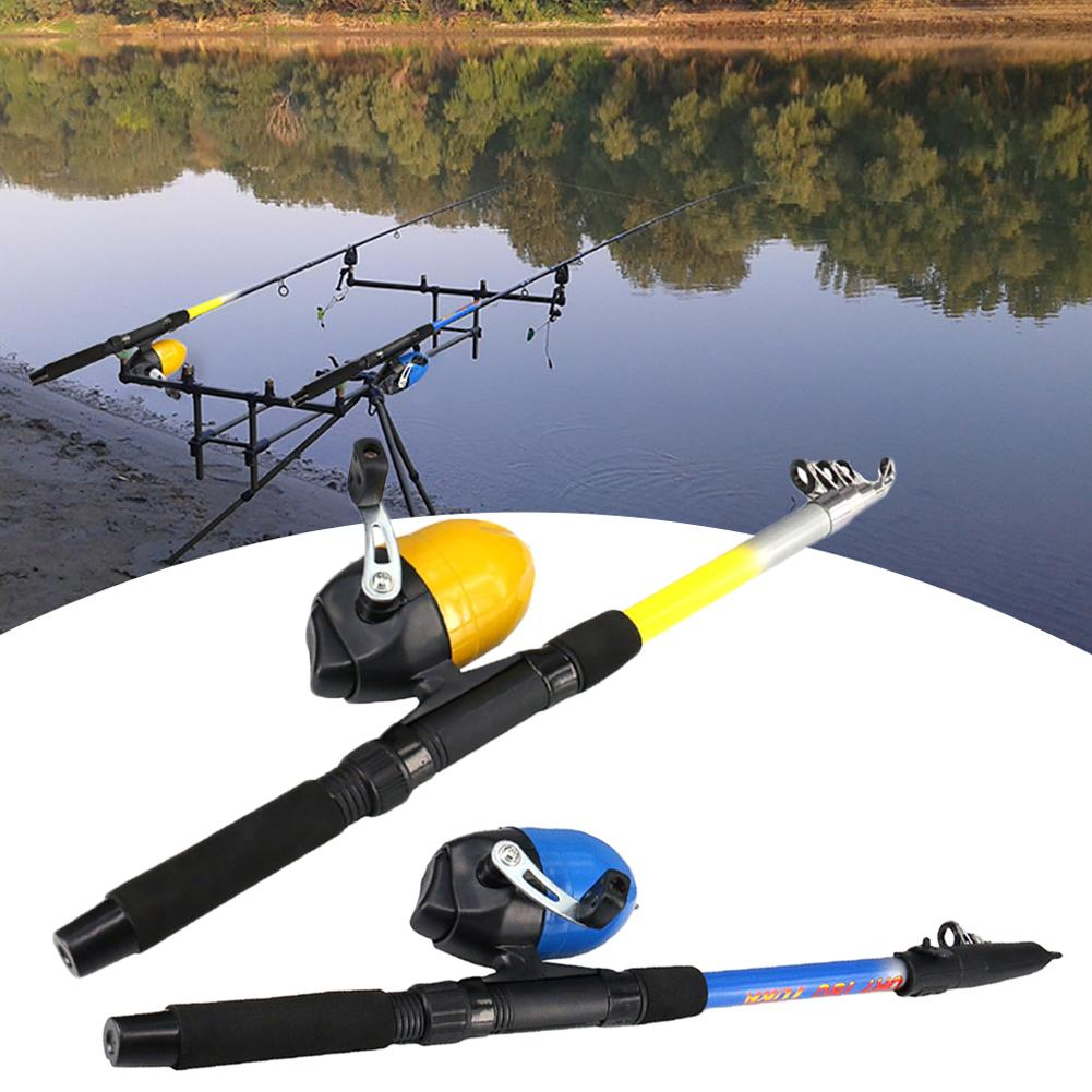 1.8m Lightweight Outdoor Stream Portable Pocket Telescopic Fishing Rod Pole Drum Reel Pen Shape Folded Fish Line Tackle Tool Set|Rod Combo| |  - title=