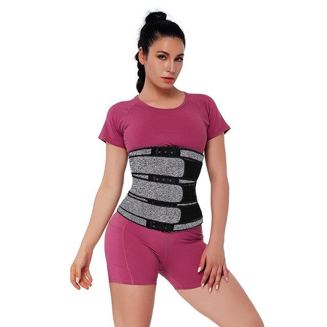 Neoprene Sweat Waist Trainer Corset Trimmer Belt for Women Fat Loss Waist Cincher Body Shaper Slimmer Adjustable Velcro Control 1
