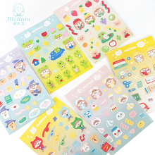 10sets/lot Kawaii Stationery Stickers Molinta gril Diary Planner Decorative Mobile Stickers Scrapbooking DIY Craft Stickers
