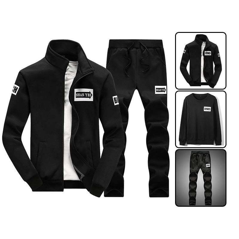 Full Set Fashion Man Collocation Set MEN'S Clothing Korean-style Slim Fit Casual Handsome Cool Trend Mature A Set Of Clothes