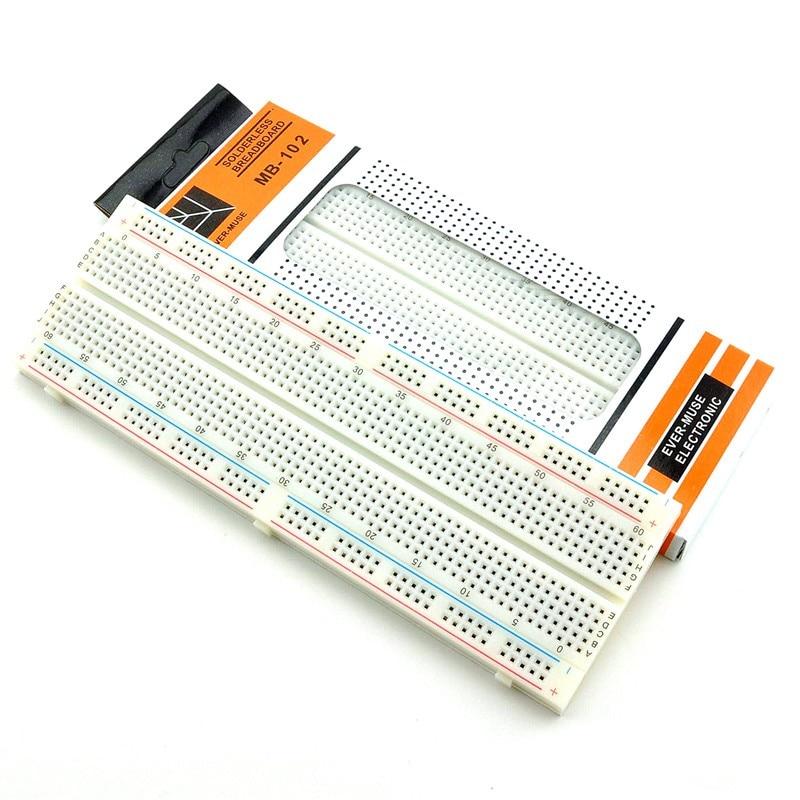 MB102 Breadboard 830 Point Solderless Diy Electronic BreadBoard MB-102 Prototype Bread Board Test Circuit Board For Arduino