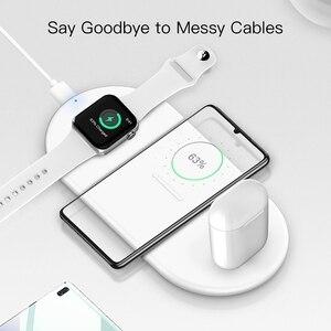 Image 5 - Suntaiho cargador inalámbrico rápido Qi para Iphone XS, XR, X, 8, 11Pro Max, estación de carga inalámbrica para Apple Airpods Watch 5, 4, 3, 2, 1, 10W