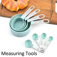 4 pces/8 pces/10 pces multi purpose colheres/copo colher de medição ferramentas pp cozimento acessórios aço inoxidável/plástico lidar com cozinha gadg