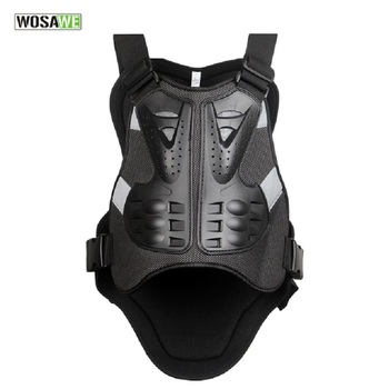 WOSAWE Armor Man Motorcycle Jackets Chest Back Protector Vest Racing Body-Guard Guards Race Back Corta Viento Hombre Ciclismo
