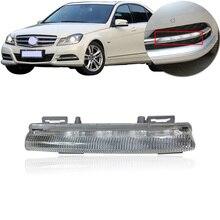 Kamshing для Benz C-класс C180 C200 2011 2012 2013 переднего бампера светодиодный автомобильный светильник противотуманной фары DRL Дневной светильник проти...