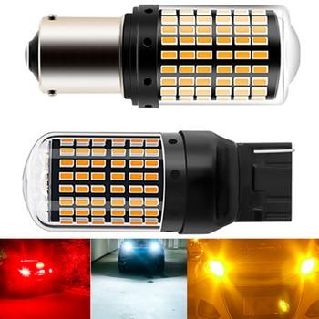 1 шт. 1156 144smd Canbus T20 7440 BA15S BAU15S P21W PY21W W21W Автомобильные светодиодные лампы без ошибок светильник с поворотным сигналом без гипервспышки