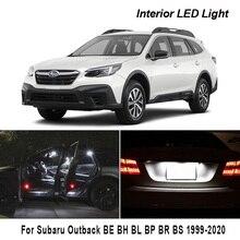 Canbus For Subaru Outback BE BH BL BP BR BS 1999 2020 차량용 LED 내부 라이센스 플레이트 램프 자동차 조명 액세서리