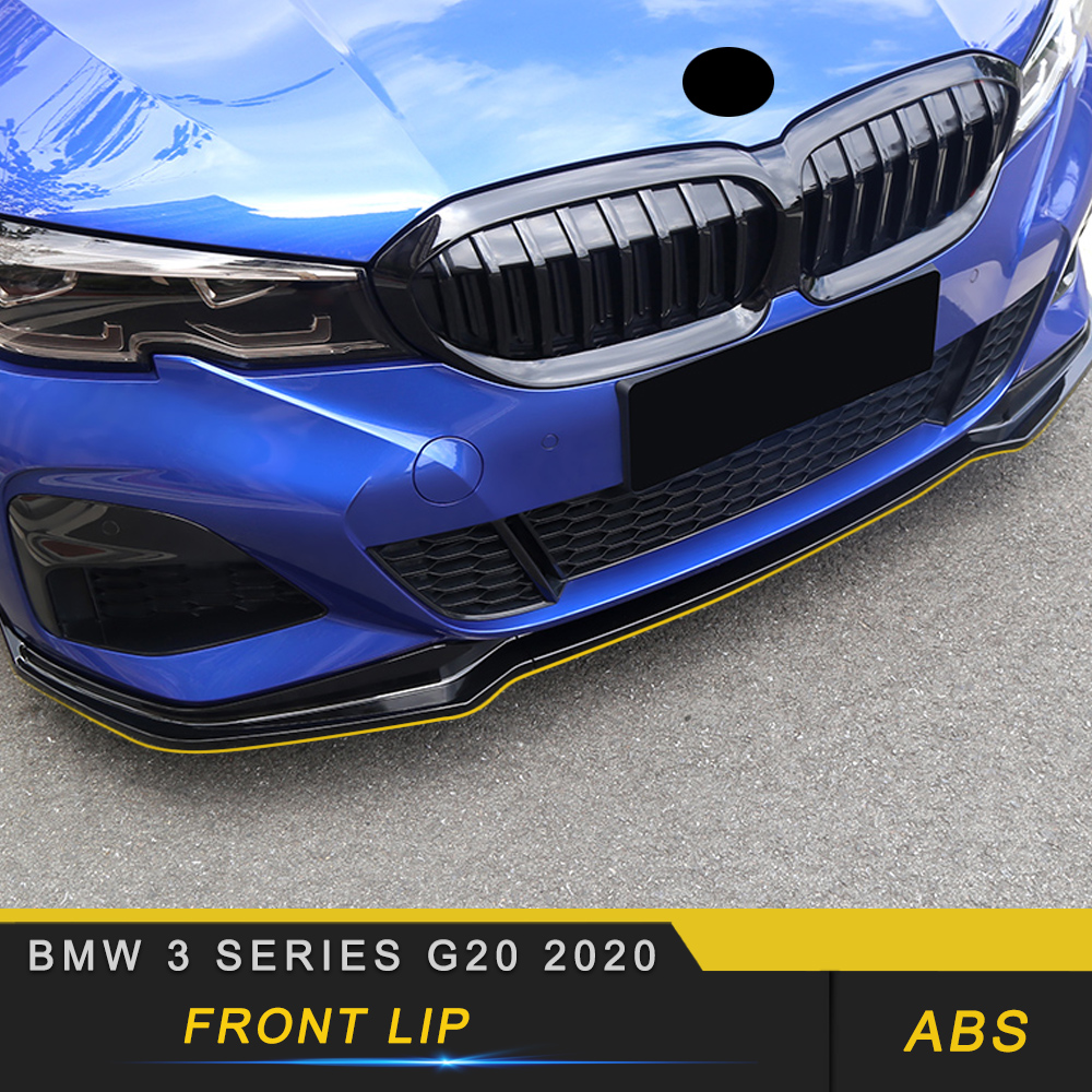 For BMW 3 Series G20 2020 Car Front Lip Chin Bumper Body Kits Deflector Spoiler Splitter Diffuser Exterior Auto Parts