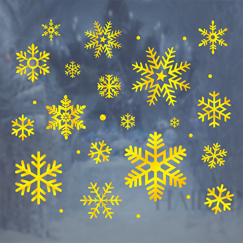 2020 Merry Christmas Window stickers Christmas decorations for home wall Glass Stickers New Year Home Decals Decor natal Noel 6