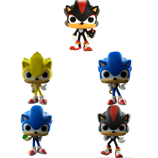 Classic Anime Game Image Model Super Sonic Hedgehog Action Figures Shadow 10cm Doll Toys Collection For Gifts Action Toy Figures Aliexpress
