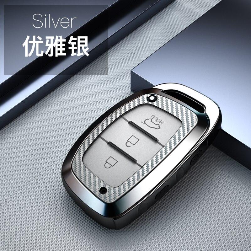 Чехол для автомобильных ключей из углеродного волокна, защитный чехол из ТПУ для Hyundai iX20 I30 IX35 I40 Ix25 Tucson Verna Sonata, автомобильный брелок
