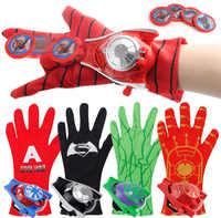 Super Heroes Handschuh Launcher Requisiten Spiderman Hulk Iron man Cosplay Kühlen Geschenk Handschuh Launcher für Kind 24cm