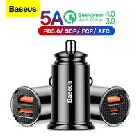 Baseus Dual USB Charger Mobil 5A Cepat Charing 2 Port USB 12-24V Mobil Rokok Socket Lighter mobil Charger Usb Adaptor Daya