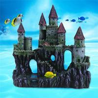 Artificial Resin Castle Shape Aquarium Fish Bowl Landscaping Cave Decoration
