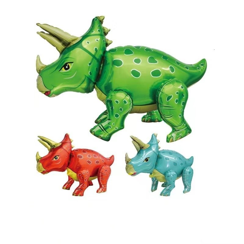 Cartoon Amnimal 4D Walking Dinosaur Balloons And Accessories Forest Party Mermaid Jurassic World Birthday Party Decorations Kids