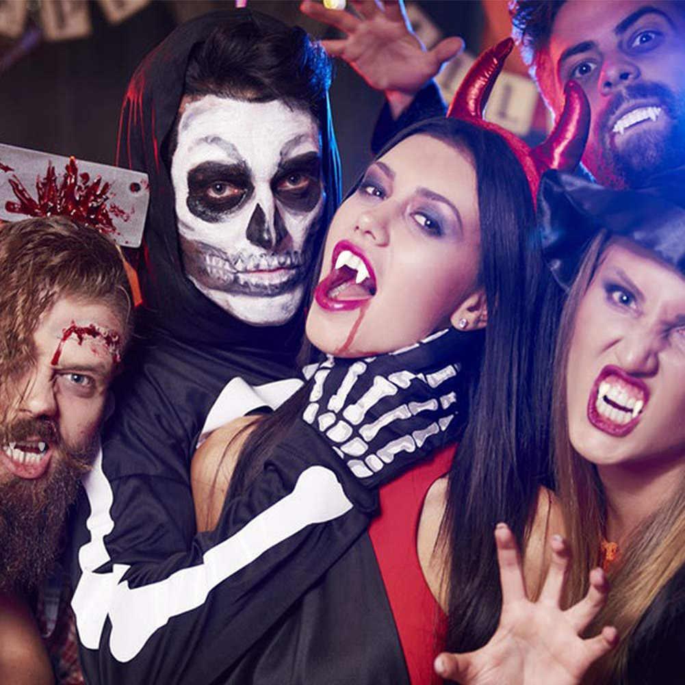 Зомби клыки зуб с клеем для Хэллоуина вечерние сувениры косплея реквизит OCT998