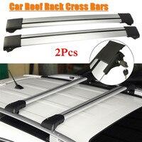 Suporte de bagagem universal da barra transversal da cremalheira do telhado do carro de 2 pces para o trilho levantado 93 99mm|Caixas e racks p/ telhado| |  -