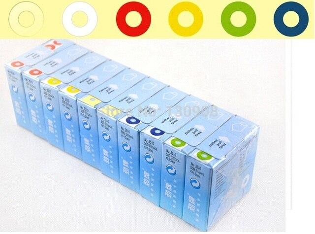 1500 قطعة تسميات التعزيز Vintage حلقة ملونة ملصقات للتسمية للهدايا العلامة التعزيز ثقب ملصقات قطرها 13 مللي متر